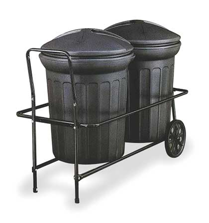 Container Trolley, 250 lb., Fits 31 gal.