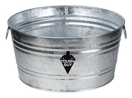 Utility Tub, 35 gal., Silver