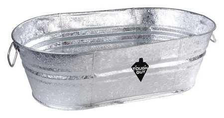Utility Tub, 7-1/2 gal., Silver