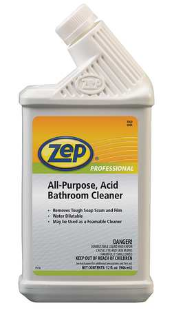 Zep Professional Bathroom Cleaner Spray Bottle Green
