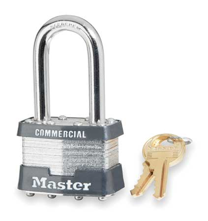 "Keyed Padlock, Different, 1-3/4""W"