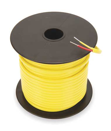 Thermocouple Ext Wire, KX, 20AWG, Str, 100Ft