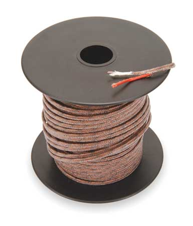 Thermocouple Lead Wire, J, 24AWG, Sol, 100Ft