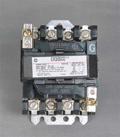 NEMA Magnetic Contactor, 27A, 120VAC, NEMA1