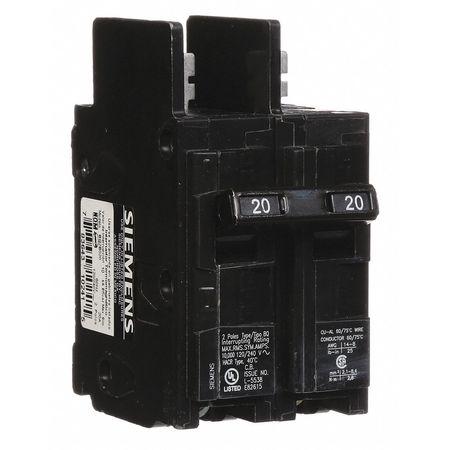 2P Standard Bolt On Circuit Breaker 20A 120/240VAC