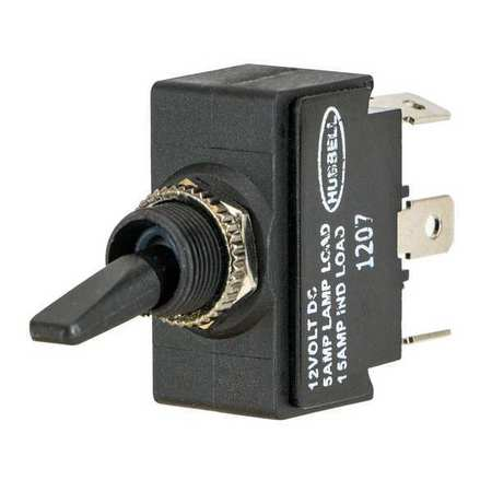 Marine Toggle Switch, DPDT, 1/4 in. Solder