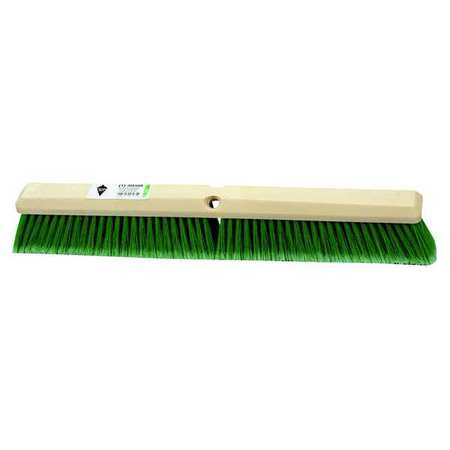 TOUGH GUY Green Flagged Synthetic Fine Sweeping Push Broom