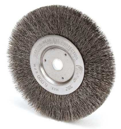 Crimped Wire Wheel Wire Brush,  Threaded Arbor