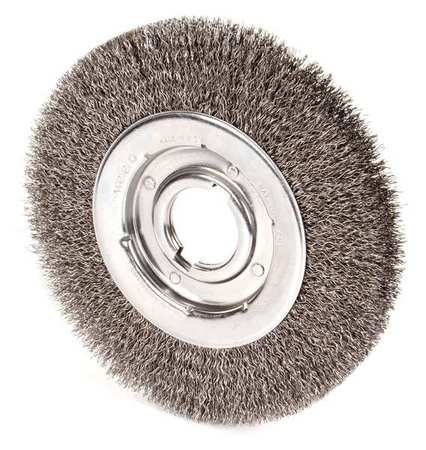 "Wire Wheel Wire Brush,  Arbor,  10"",  0.020 """