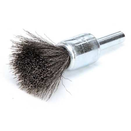 Crimped Wire End Wire Brush,  Steel,  1/2""