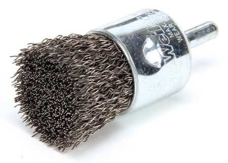 Crimped Wire End Wire Brush,  Steel,  1""