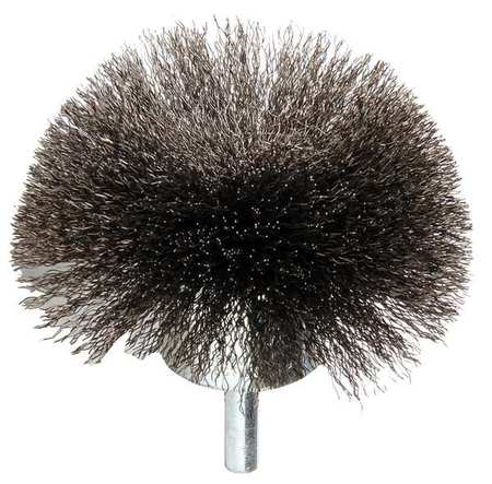 "Flared End Wire Brush,  Steel,  3"",  16,  000 RPM"