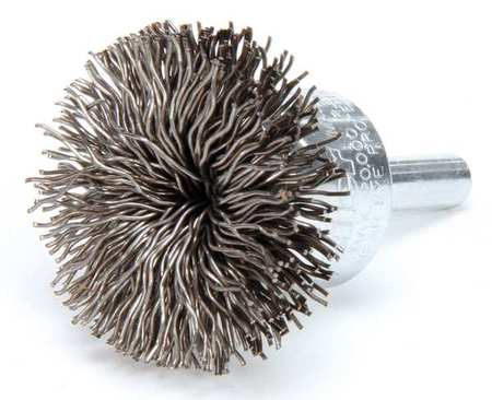 Flared End Wire Brush,  Steel,  1-1/2""