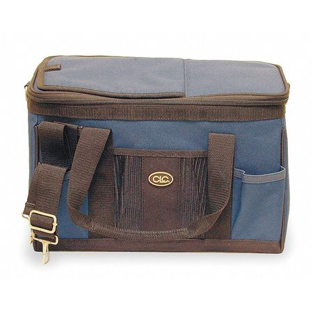 Tool Tote/Cooler Bag, 12 Cans, Blue/Black