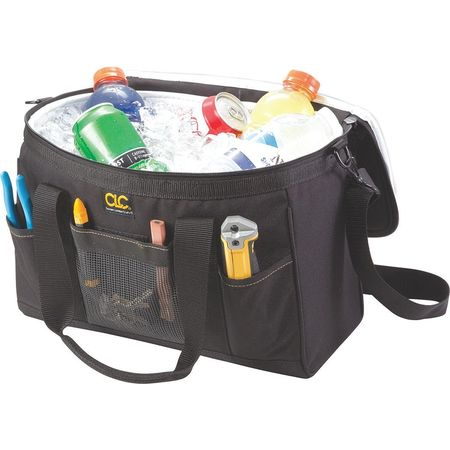 Tool Tote/Cooler Bag, 12 Cans, Blue/Black