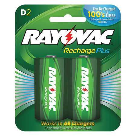 Precharged Recharg. Battery, D, NiMh, PK2