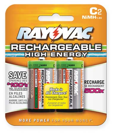 Precharged Recharg. Battery, C, NiMh, PK2
