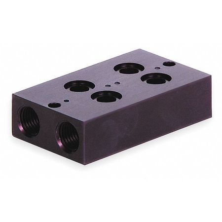 Manifold Block, 2 Stations, 1/4 NPT