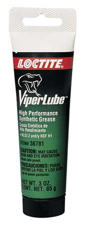 Synthetic Lubricant, Grease, 3 Oz Tube, Wht