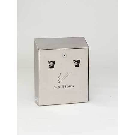 Cigarette Receptacle, 1-19/32 gal., Silver