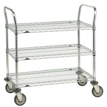 Wire Cart, 18 In. W, 36 In. L, Steel