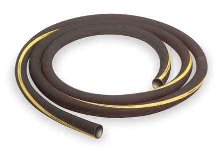 "3"" ID x 100 ft Rubber Water Suction Hose BK"