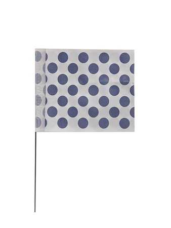 "Marker Flags,  18"",  Vinyl,  Polka Dots"