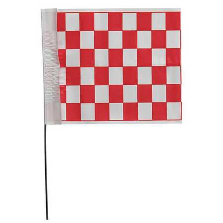 "Marker Flags,  18"",  Vinyl,  Checkered"