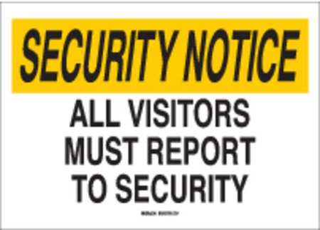 Notice Security Sign, 14 x 20In, PLSTC, ENG