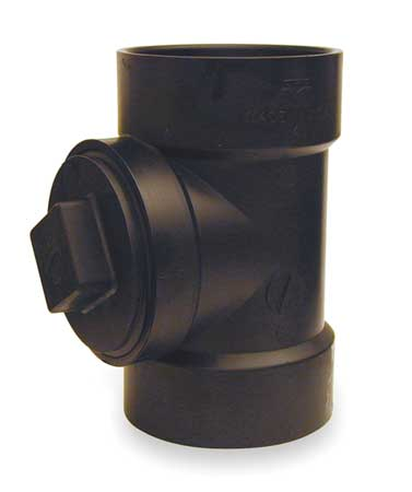 Cleanout Tee with Plug, 4 In FNPT x Hub