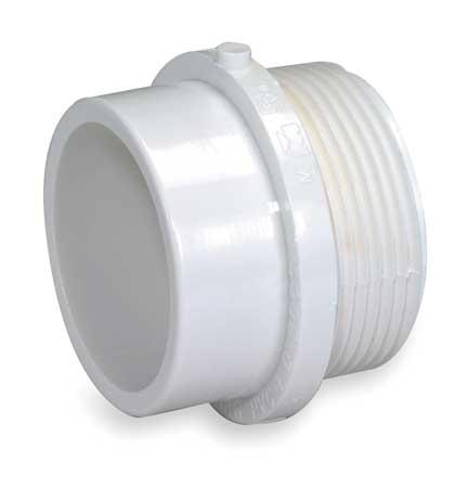 "3"" MNPT x Spigot PVC DWV Male Adapter"