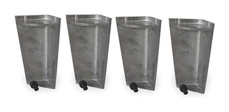 Leg Kit, Alum, For 3JWR9, 3JWT1, 3JWU3, 3JWU4