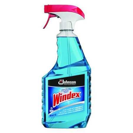 Glass Cleaner, 32 oz., Blue, PK12