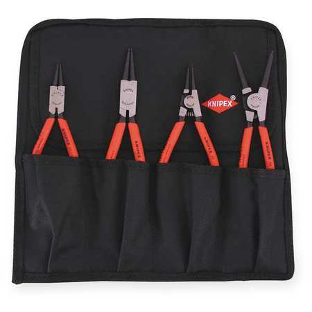 Retaining Ring Plier Set, 0 Deg., 4 pcs.
