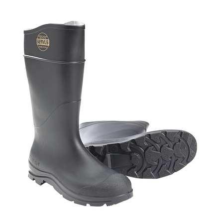 "Knee Boots, Sz 12, 16"" H, Black, Stl, PR"