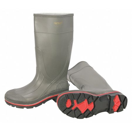 """Knee Boots, Size 9, 15"""" H, Gray, Plain, PR"""
