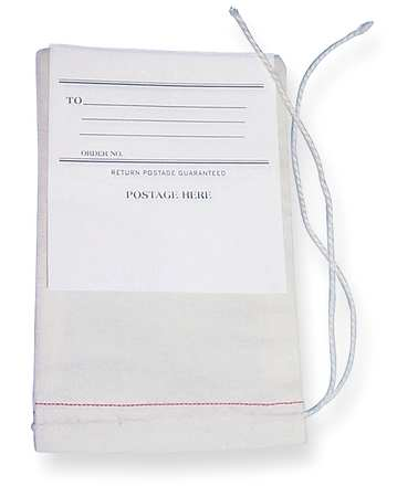 Drawstring Mailing Bag w/Tag, 10x6, PK100