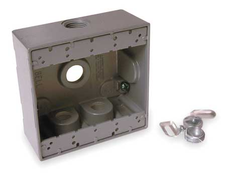 Weatherproof Box, 2Gang, 4Inlet