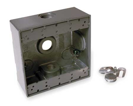Weatherproof Box, 2Gang, 3Inlet