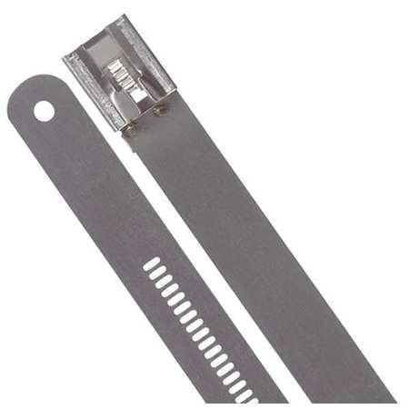 Cable Tie, 24 In, Metallic Gray, PK100