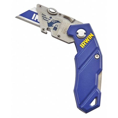 Folding Utility Knife, 5-3/4 in., Blue