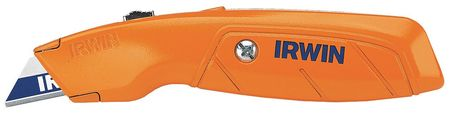 Utility Knife, 6-1/2 In, Orange