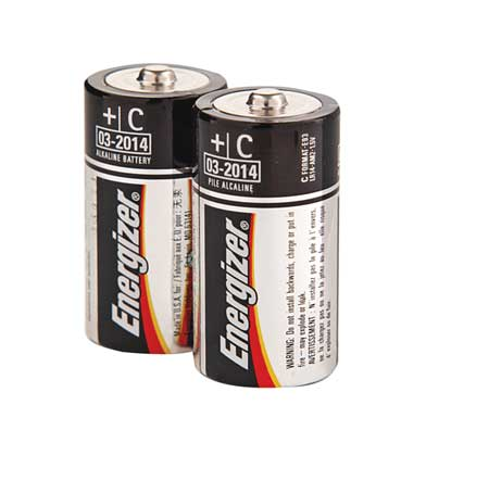 ENERGIZER Alkaline C Batteries,  4 Pack