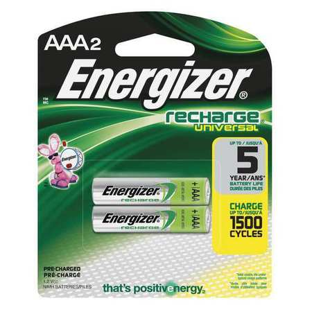 Precharged Recharg Battery, AAA, NiMh, PK2
