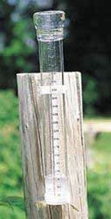 Rain Gauge, 11-7/8X2 In Dia, Clear-Vu