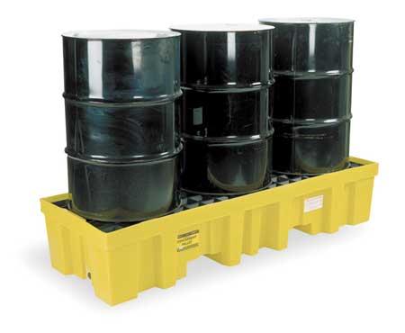 Drum Spill Cntnmnt Pallet, 3 Drum, 6k lb.