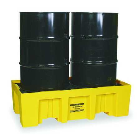 Drum Containnment Pallet, 2 Drum, 4k lb