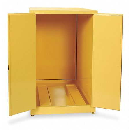 Flammable Cabinet, Horizontal, 55 Gal., YLW