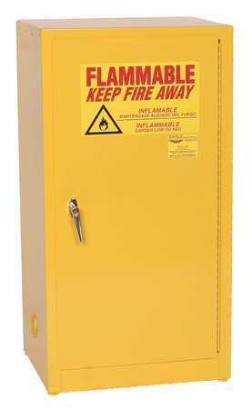 Flammable Safety Cabinet, 16 Gal., Yellow