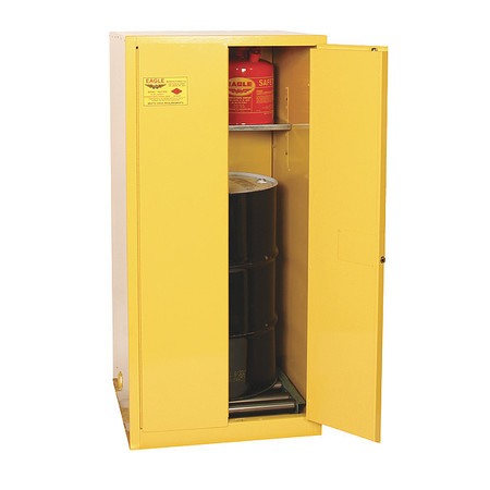 Hazardous Waste Cabinet, 55 Gal., Yellow